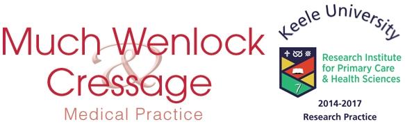 Much Wenlock Cressage Medical Practice. Keele University Research Institute for Primary Care & Health Sciences - 2014 to 2018 Research Practice